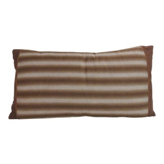 Vintage French Graphic Brown Decorative Bolster Pillow