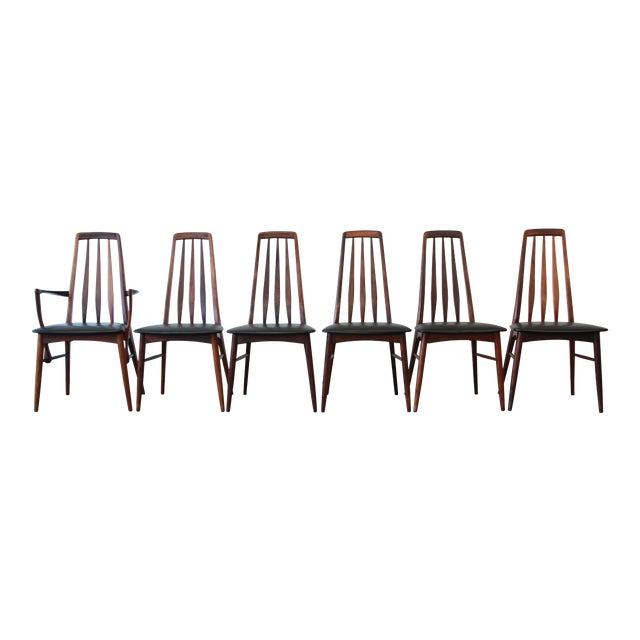 Niels Koefoed for Koefoeds Hornslet Eva Rosewood Dining Chairs- Set of 6 - Image 1 of 11