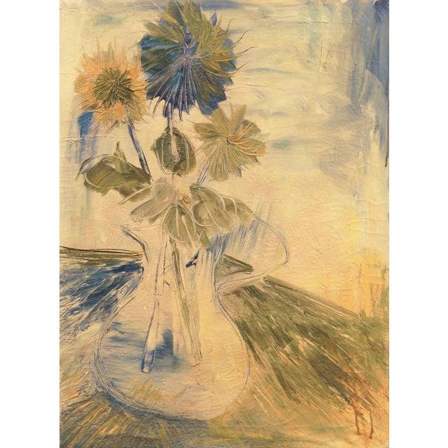 Saffron 'Still Life of Flowers in a Jug' by Frank Gebhart, Post-Impressionist Still Life For Sale - Image 8 of 8