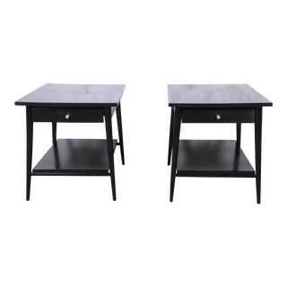 Paul McCobb Planner Group Ebonized Nightstands or End Tables, Pair For Sale