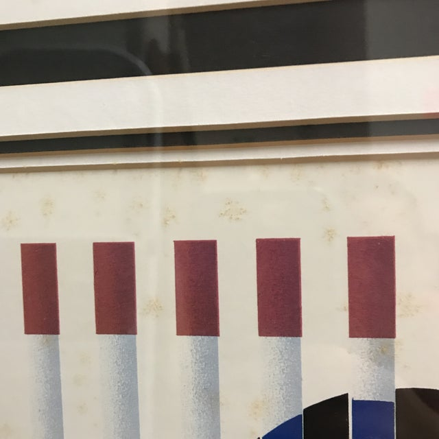 """Lithograph Yaacov Agam """"Birth of a Flag"""" Lithograph Signed For Sale - Image 7 of 8"""