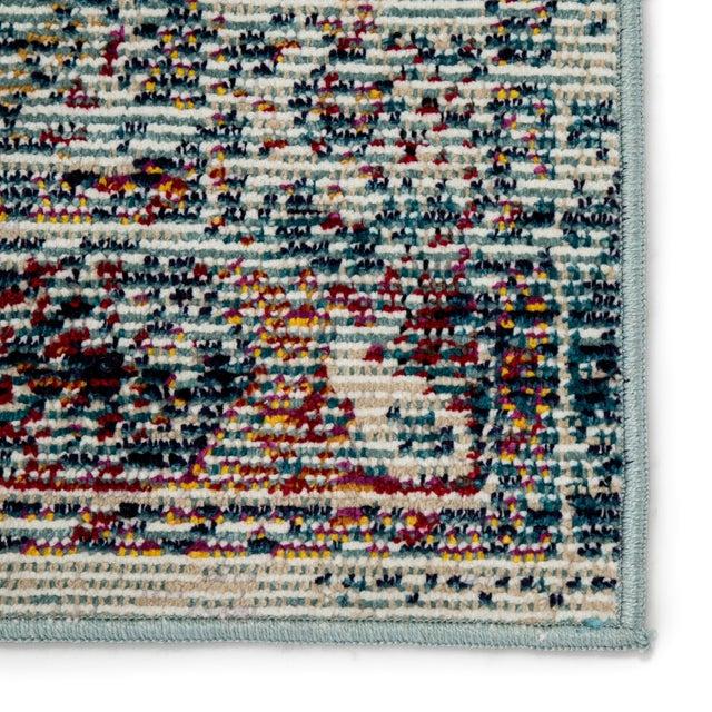 "Jaipur Living Farra Indoor Outdoor Medallion Multicolor Blue Runner Rug 2'6""X8' For Sale - Image 4 of 7"