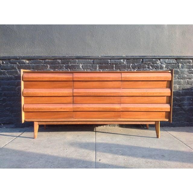 Mid Century Walnut Lane Furniture Dresser - Image 3 of 8