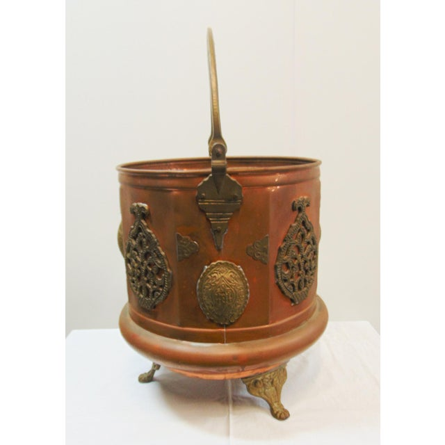 Early 20th Century Arts & Crafts Copper & Brass Ash Bucket For Sale - Image 5 of 7