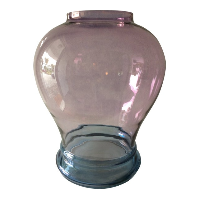 Luminescent Glass Vase For Sale
