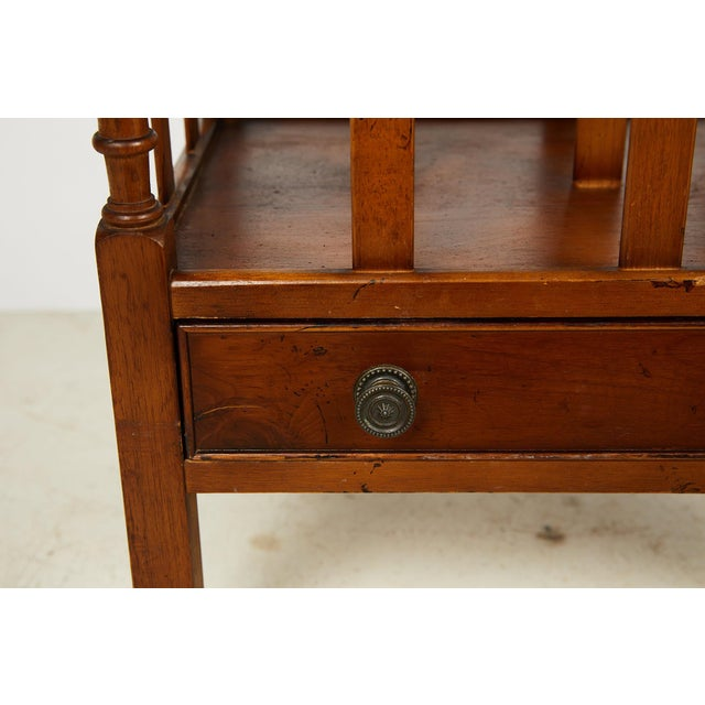 Brown Early 20th Century English Sheraton Style Canterbury For Sale - Image 8 of 13