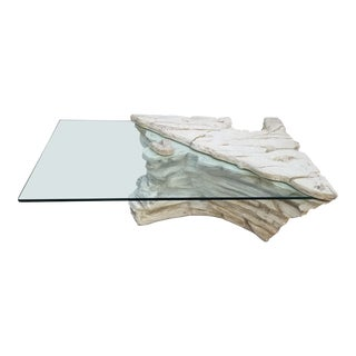 Sirmos Style Plaster Rock Quarry Coffee Table For Sale