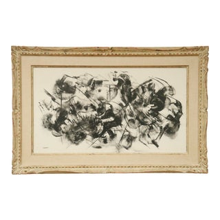 Abstract Expressionist Print by Flaherty For Sale