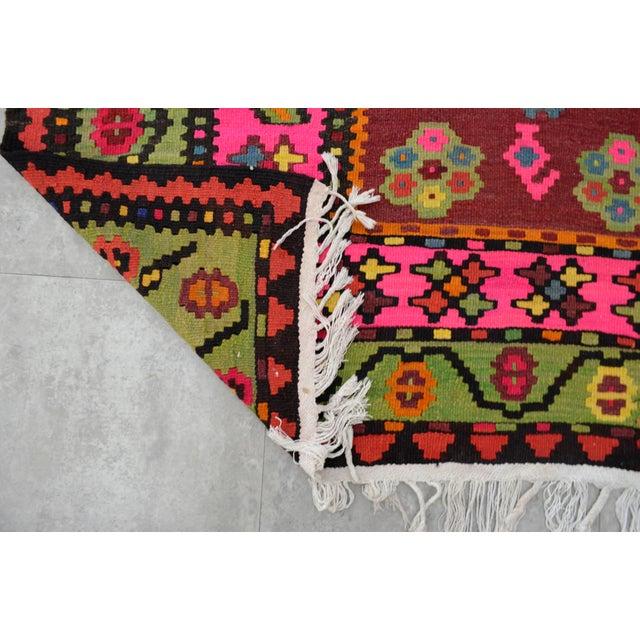 Anatolia Turkish Kilim Rug Hand Woven - 7′3″ X 15′3″ For Sale - Image 11 of 11
