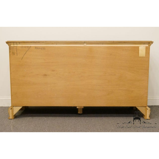 "Sumter Cabinet Co. Solid Oak Country French 64"" Double Dresser For Sale - Image 11 of 13"