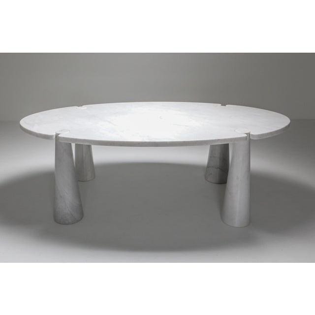 Angelo Mangiarotti Carrara Marble Dining Table by Angelo Mangiarotti - 1970s For Sale - Image 4 of 13