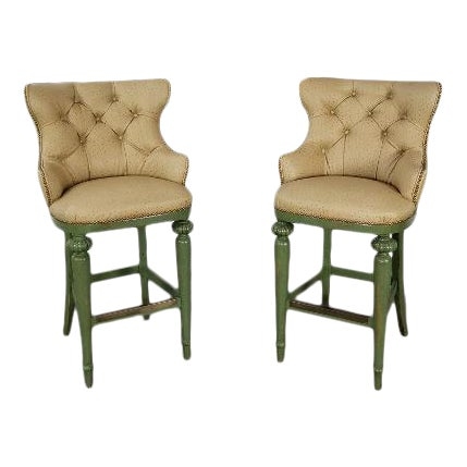 Hickory Century Ostrich Barstools For Sale