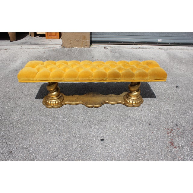 1900s Vintage French Louis XIII Barley Twist Bench For Sale - Image 9 of 13