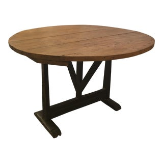19th Century French Table De Vindare/Wine Tasting Table