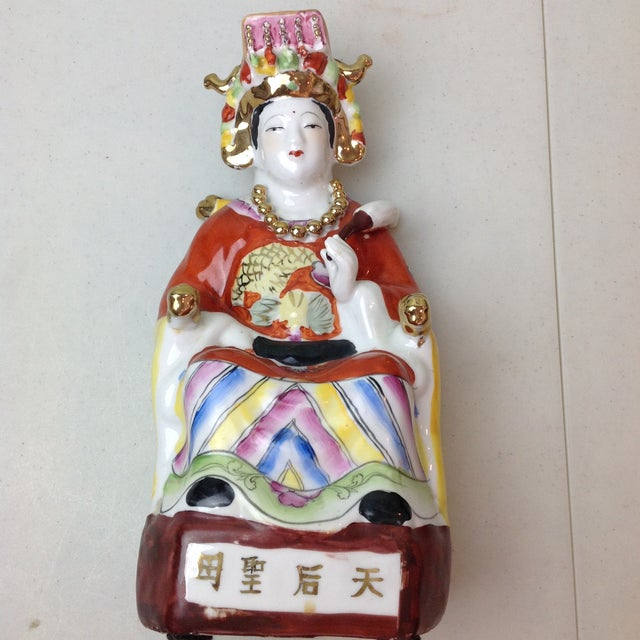 Vintage Ceramic Chinese Empress Figurine For Sale - Image 10 of 11