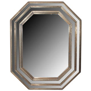 Bronze Octagonal Shaped Mirror For Sale