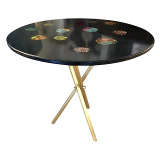 "1950s Italian ""Viole"" Fornasetti Side Table For Sale"