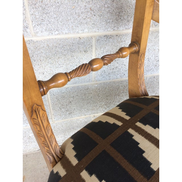 Baker Quality Regency Neoclassical Scroll Arm Accent Chair For Sale In Philadelphia - Image 6 of 10
