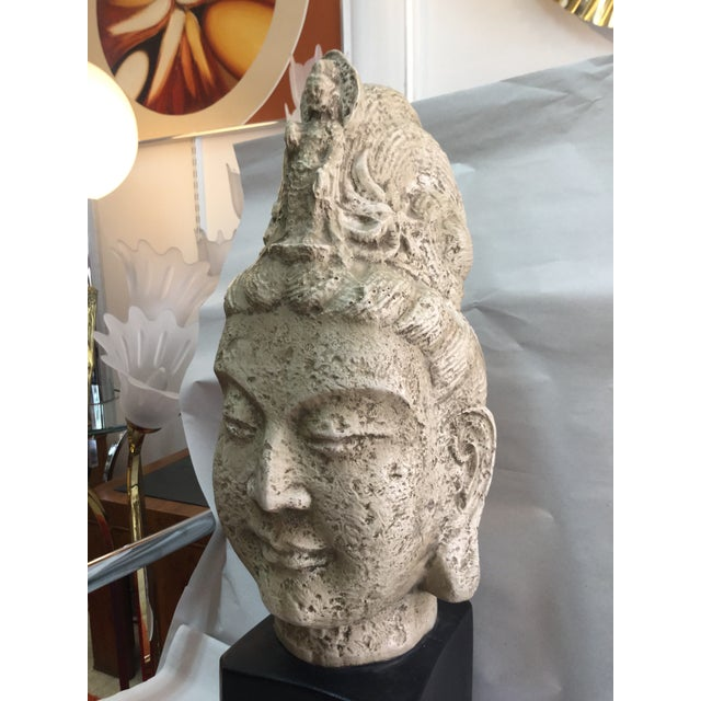 James Mont Style 1960's Buddha Head Sculpture - Image 8 of 9