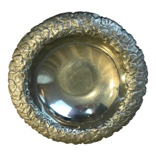 Wilton Pewter Bowl With Leaf Motif For Sale