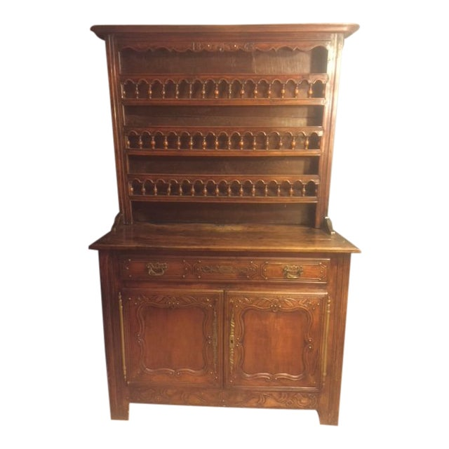 19th Century Hand Carved Walnut French Vaisselier For Sale