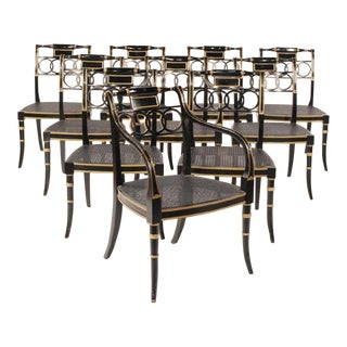 English Traditional Baker Governor Alston Chairs - Set of 10