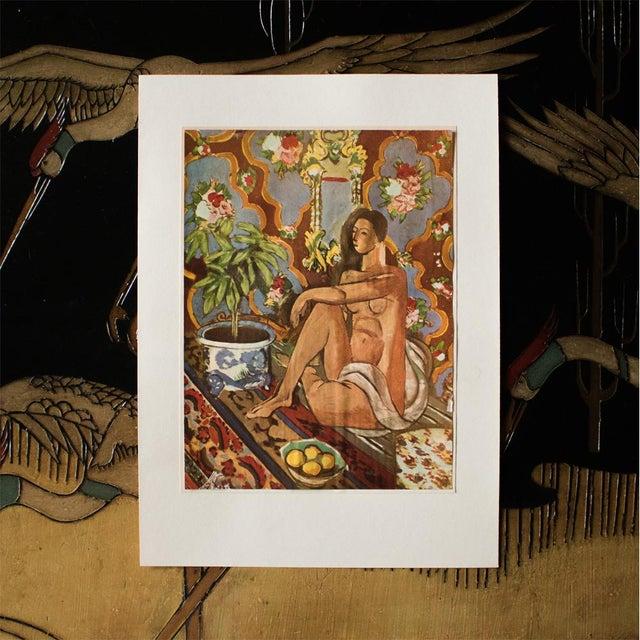 "Expressionism 1940s Henri Matisse, ""Decorative Figure"" Original Period Swiss Lithograph For Sale - Image 3 of 6"
