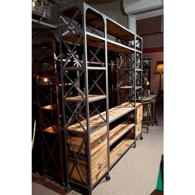 Industrial Wood & Metal Entertainment Center - Image 3 of 10