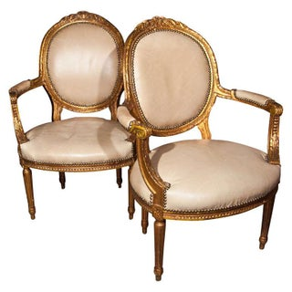 Maison Jansen French Louis XIV Armchairs - A Pair