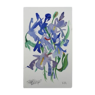 """Meadow Iris 1"" Original Watercolor Painting For Sale"