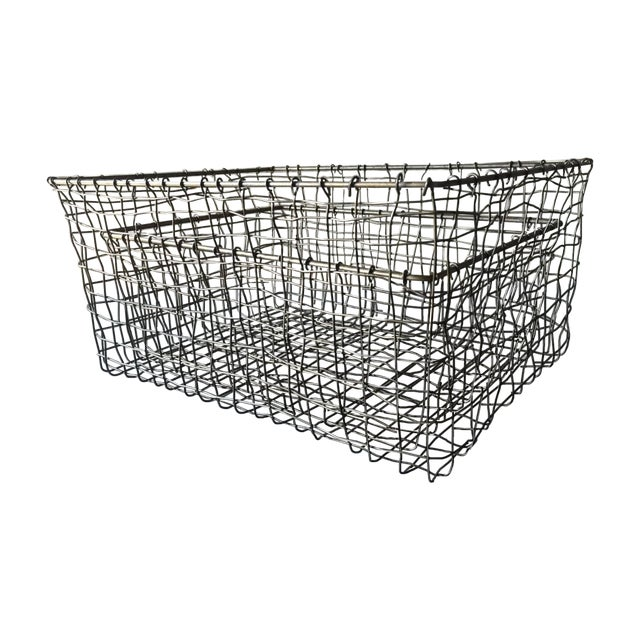French Wire Vintage Style Market Baskets- Set of 3 - Image 1 of 11