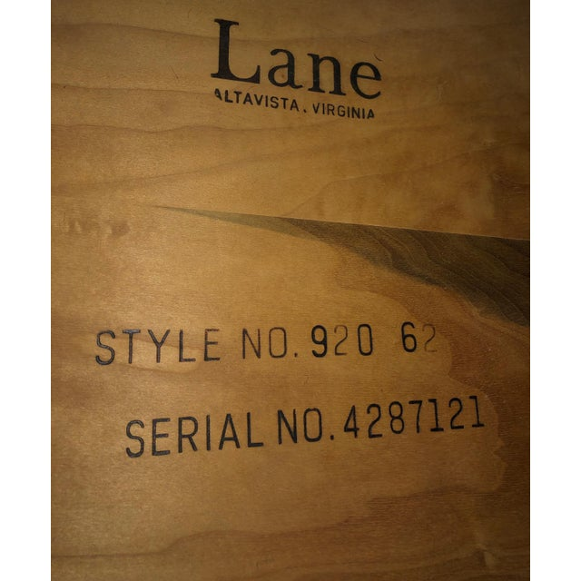 Lane Mid-Century Backgammon Campaign Console Table For Sale - Image 11 of 13