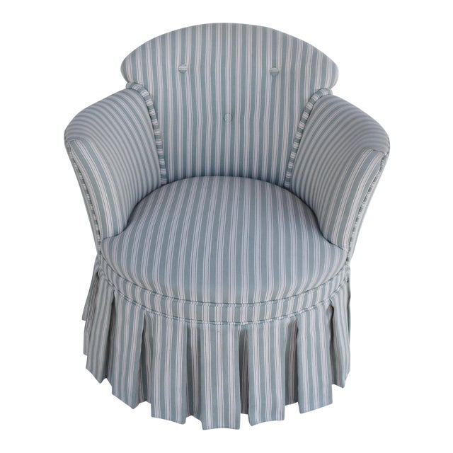 Vintage Scalamandre Upholstered Vanity Accent Side Chair For Sale