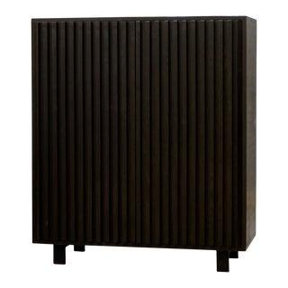 Constantine Blackened Oak Storage Cabinet For Sale