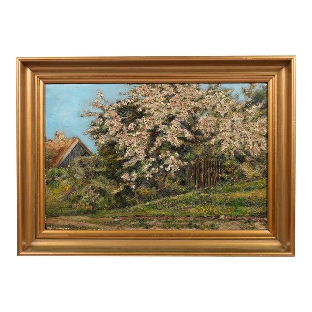 Danish Impression Oil Painting 'Flowering Tree' - Image 1 of 4