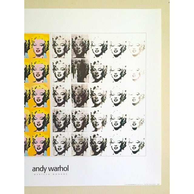 "Contemporary Andy Warhol Rare Vintage 1995 Lithograph Print Poster ""Marilyn Diptych"" 1962 For Sale - Image 3 of 11"