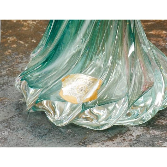 Collection of Blown Glass Val St. Lambert Table Lamps from Belgium, circa 1960 For Sale - Image 5 of 6