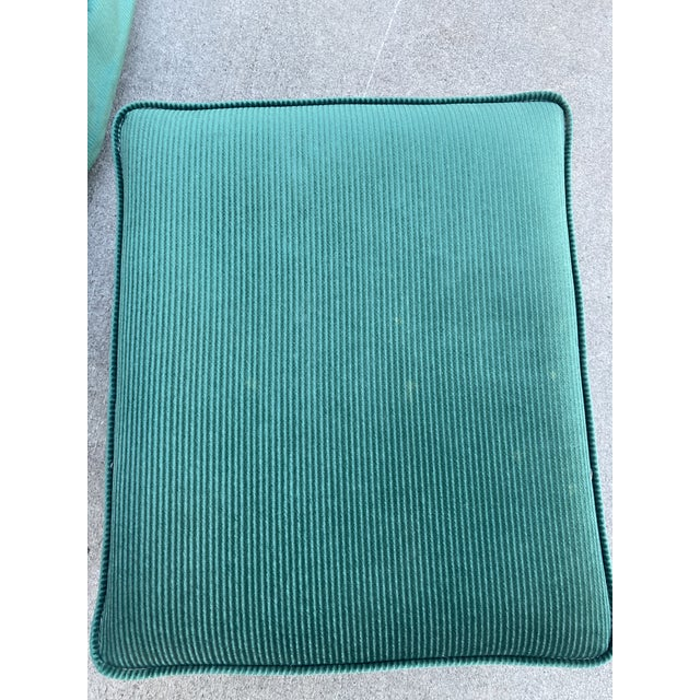 Vintage Broyhill Emerald Green Chair and Ottoman For Sale In Sacramento - Image 6 of 13