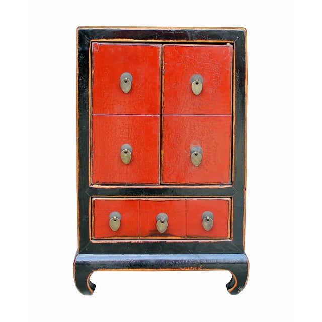 Chinese Black & Red Lacquer Cabinet - Image 2 of 6