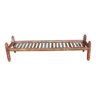 Long Slat Coffee Table For Sale