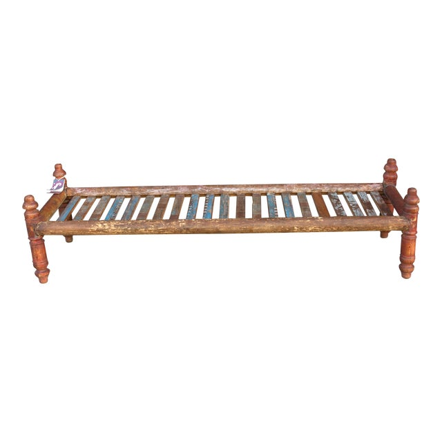 Long Slat Coffee Table For Sale