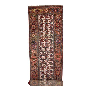 Antique Persian Kurd Carpet Runner, Extra Long Persian Runner - 3' X 23'7 For Sale
