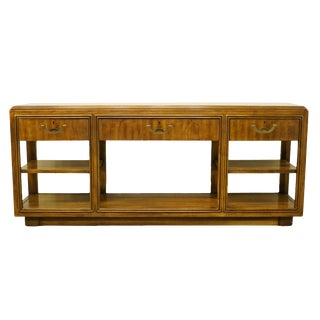 20th Century Campaign Drexel Heritage Accolade II Collection Buffet For Sale