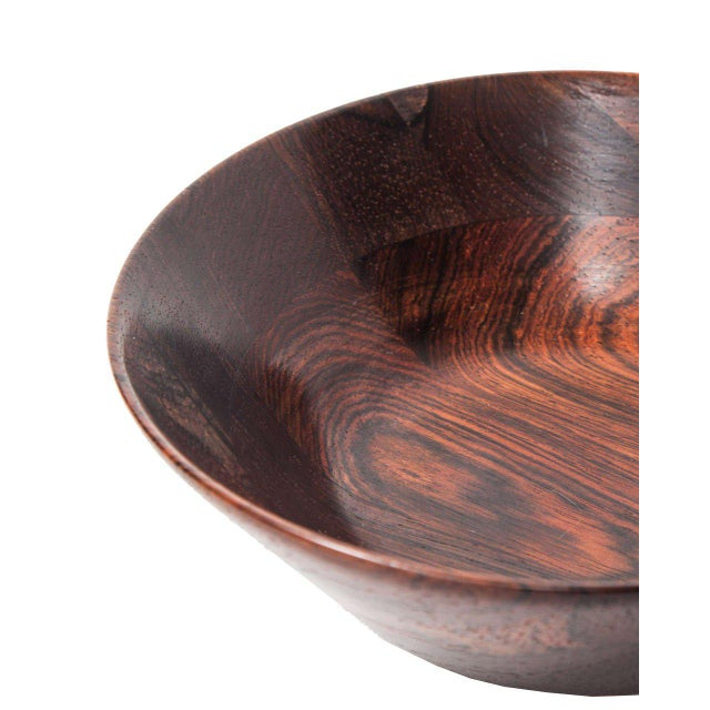 Trio of Danish Rosewood Bowls by Laurids Lonborg for Illums Bolighus - Image 4 of 9