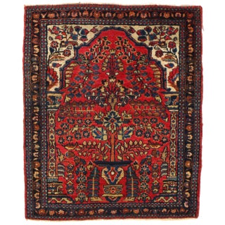 "19th Century Antique Persian Sarouk Farahan Rug- 2'x2'5"" For Sale"