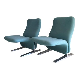 Pair of Pierre Paulin Lounge Chairs Model Concorde, for Artifort, 1960s