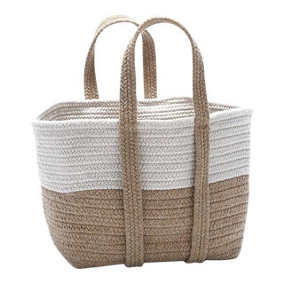 Farmhouse Square Basket 16x14x16 Evergold