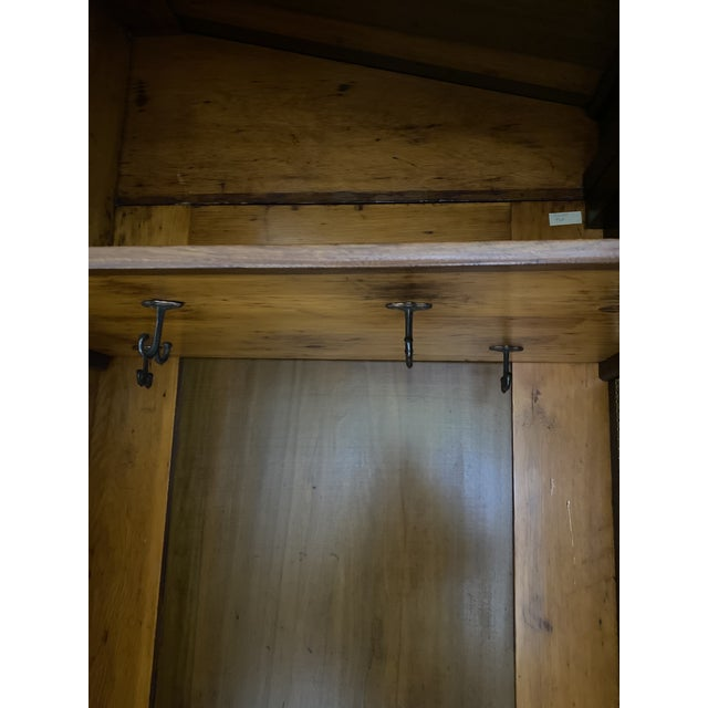 Antique French Wooden Wardrobe For Sale In Indianapolis - Image 6 of 7