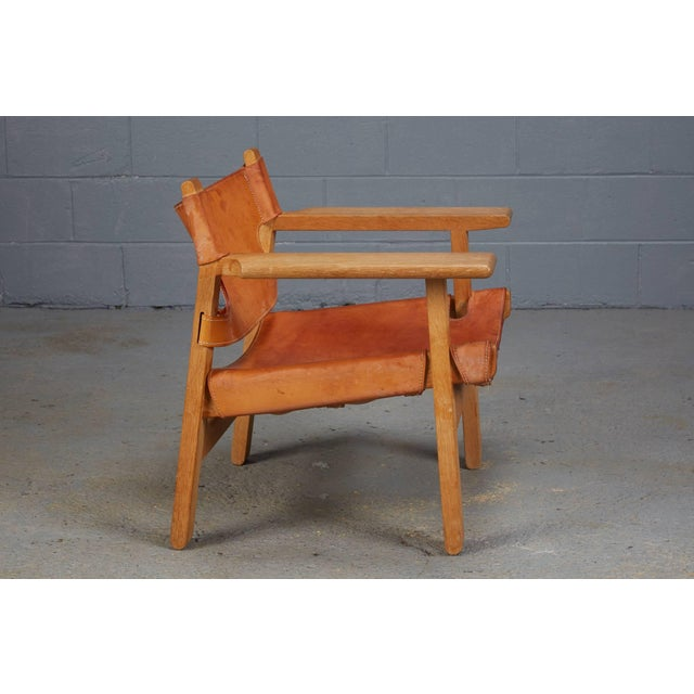 Mid-Century Modern Spanish Chair by Børge Mogensen for Fredericia Furniture For Sale - Image 3 of 9