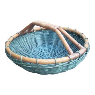Rattan & Bamboo Gathering Basket